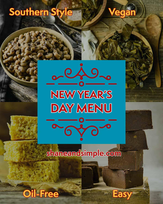 vegan new year's day menu header.