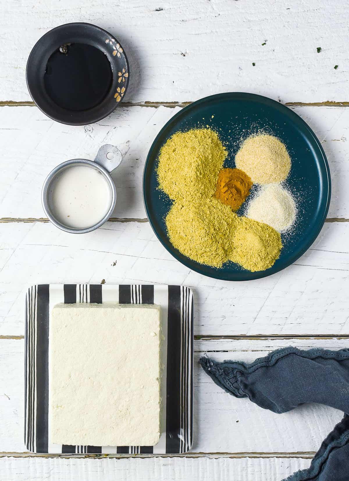 Tofu scramble ingredients.
