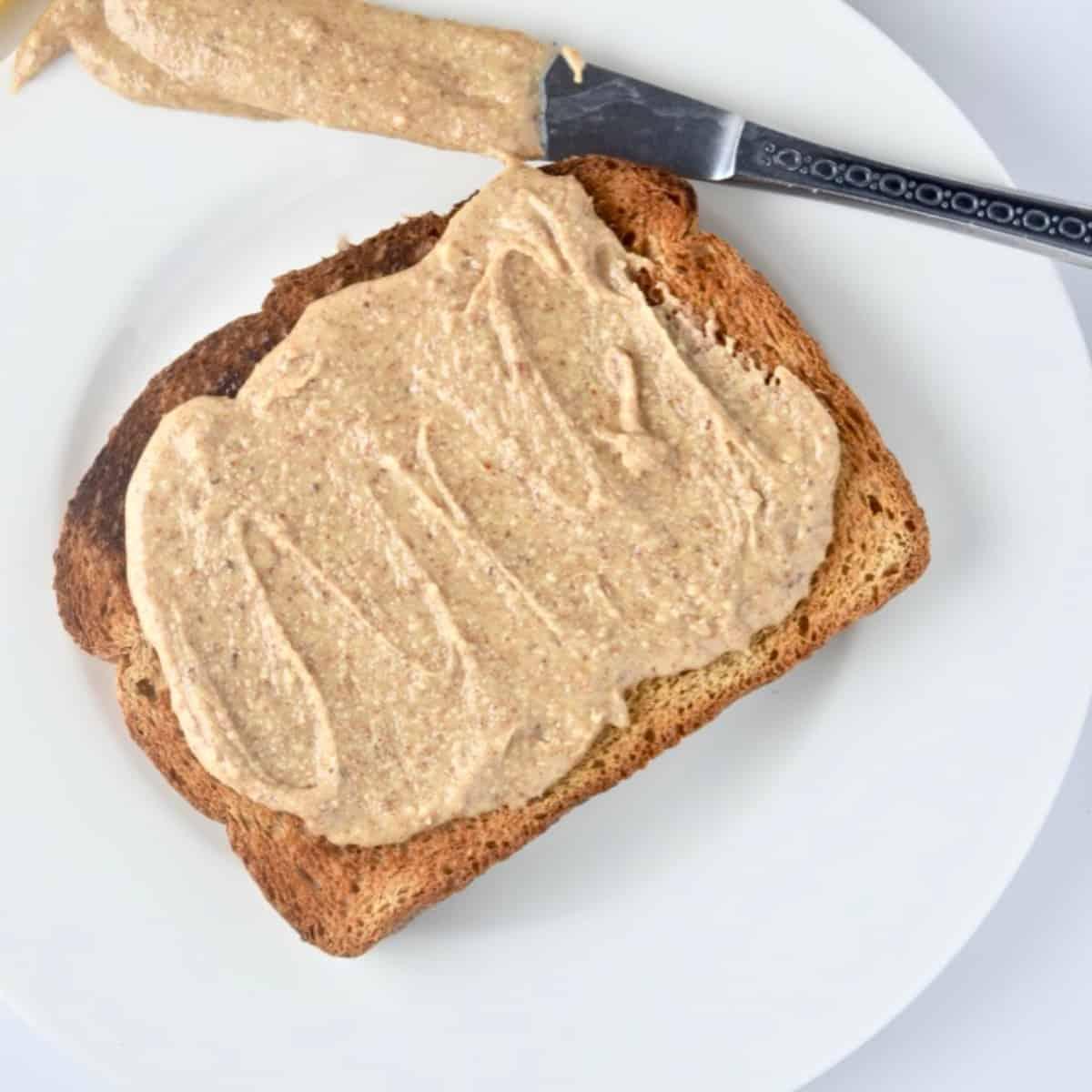 Almond butter on toast.