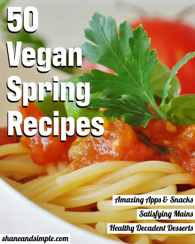 50 vegan spring recipes header.