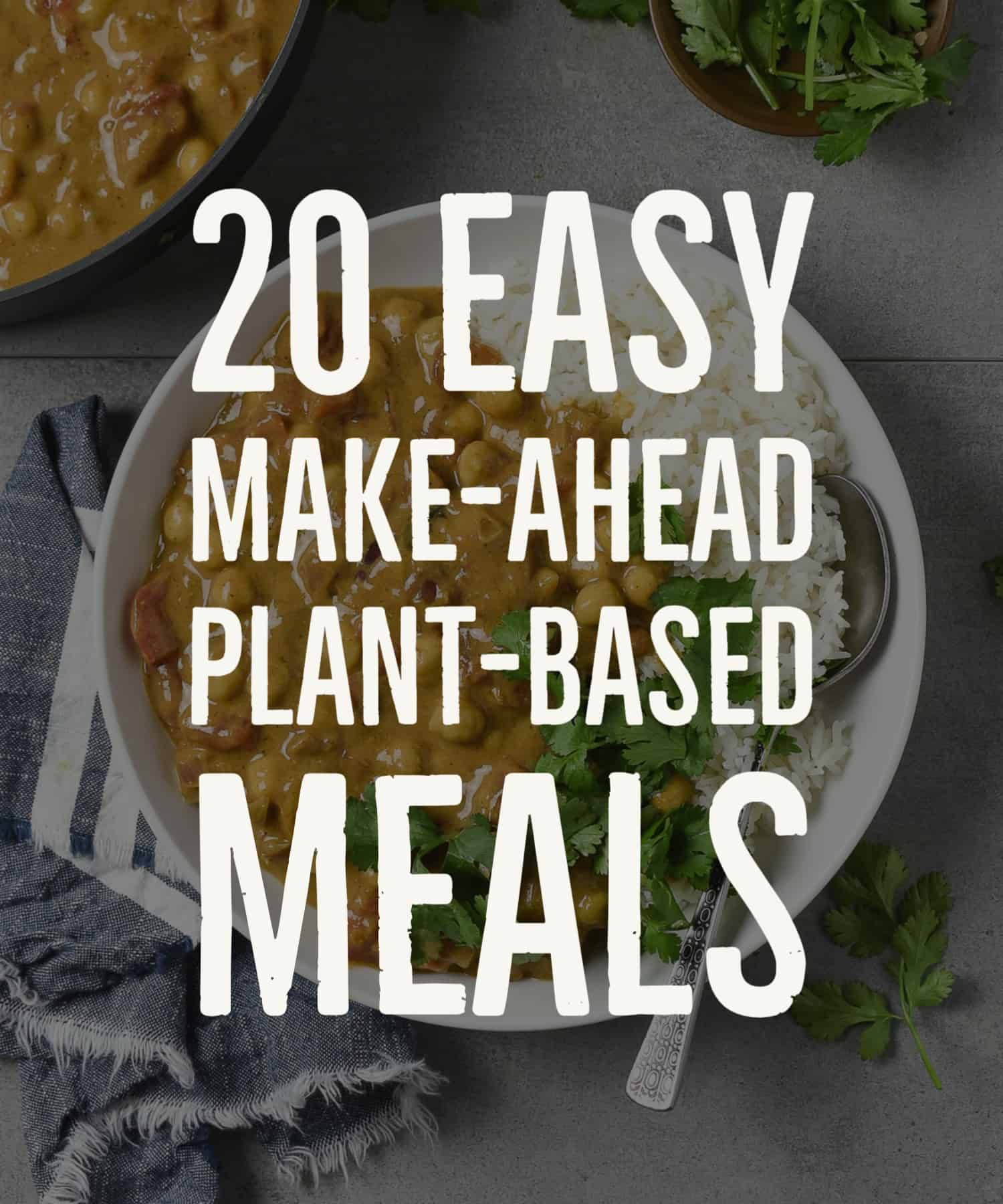 20 easy make ahead plant based meals HEADER.